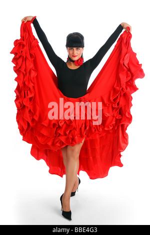 Beautiful flamenco dancer Dancing contest  - Stock Photo