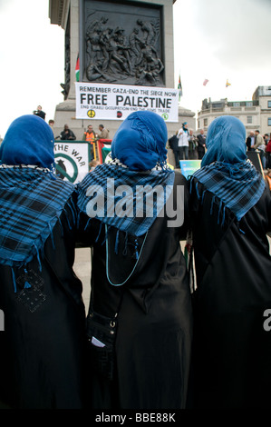 Anti Israel demonstrartion in London - Stock Photo