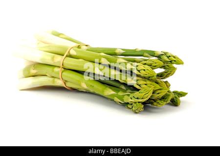 Green asparagus (Aspagurus) - Stock Photo