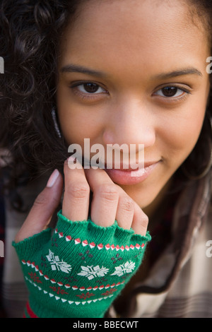 Portrait of Young Woman, Hillsboro, Oregon, USA - Stock Photo