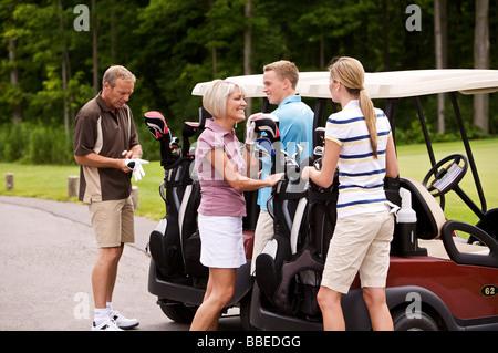 People Golfing, Burlington, Ontario, Canada - Stock Photo