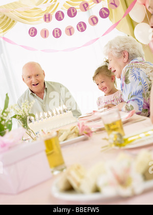 Birthday Party in Retirement Home - Stock Photo