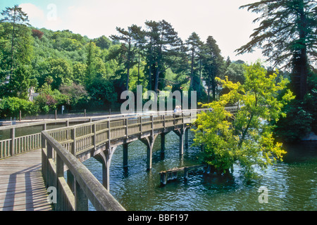 The footbridge over the River Thames by Marsh Lock Henley in Oxfordshire England UK - Stock Photo