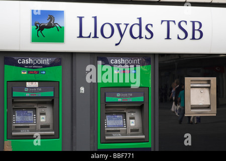 Lloyds TSB high street bank st building society branch in Exeter City Centre - Stock Photo