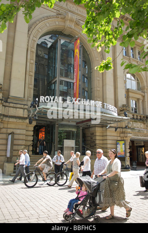 Exterior of the Royal Exchange Theatre on St Anns Square,Manchester - Stock Photo