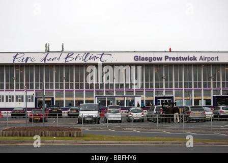 Glasgow Prestwick International Airport Terminal Building - Stock Photo