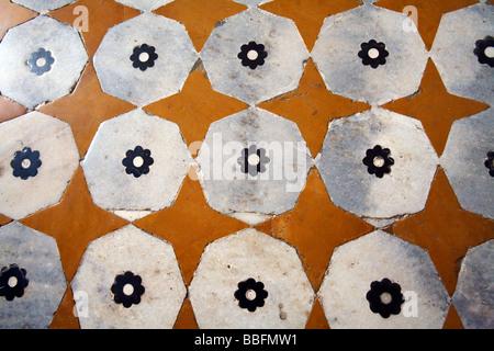 Marble Mosaic Itimad-ud-Daulah   Agra Uttar Pradesh India - Stock Photo