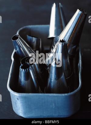 Metal icing nozzles - Stock Photo
