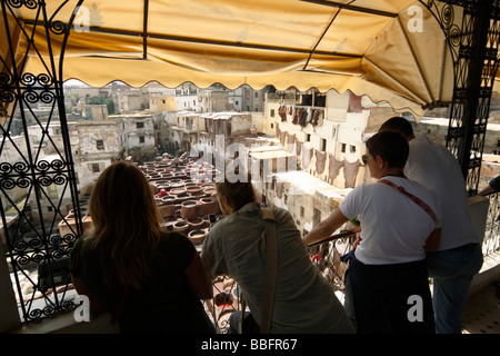 Africa, North Africa, Morocco, Fes, Fès el Bali, Old Fes, Medina, Old Town, Medieval Traditional Tanneries, The - Stock Photo