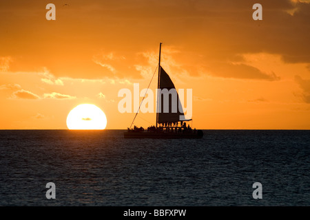 Sunset in Key West. - Stock Photo