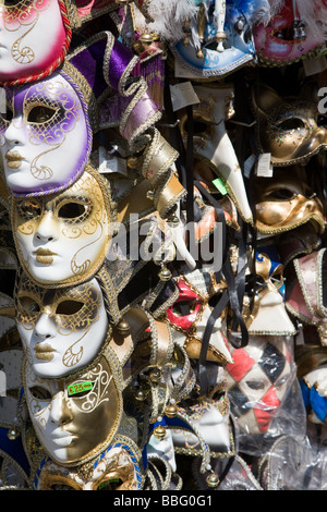 Venetian masks on a stall - Stock Photo