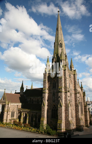 St Martin in the Bullring church in central Birmingham, West Midlands - Stock Photo