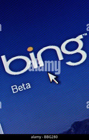 Microsoft Bing Search Engine Computer Screen Seo Stock Photo