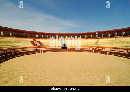 Bullring, bullfighting, arena, Monovar, Alicante, Spain, Europe - Stock Photo