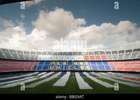 Camp Nou stadium of Barcelona football club Barcelona - Stock Photo