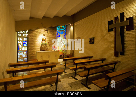 Camp Nou Barcelona Football Club Stadium players chapel - Stock Photo