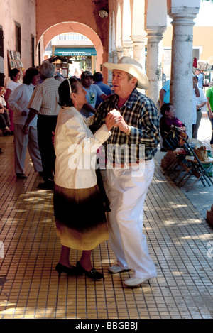 Dance music on a sunday morning in Merida, Yucatan, Mexico, Central America - Stock Photo