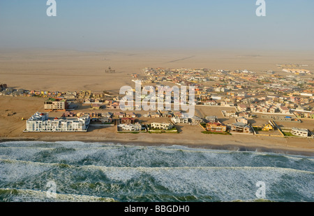 Swakopmund, aerial picture, Namibia, Africa - Stock Photo