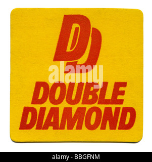 Old beermat for Double Diamond, Allied, Breweries, Burton on Trent, Staffordshire - Stock Photo