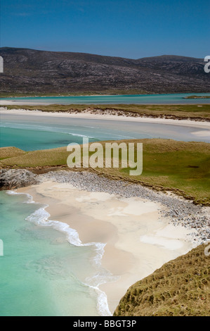 Seilebost beach, Isle of Harris, Outer Hebrides, Scotland - Stock Photo