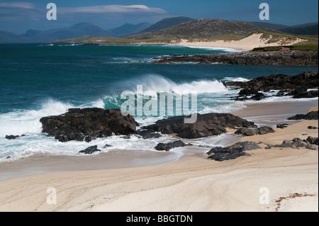 Traigh Lar  beach, South Harris, Outer Hebrides, Scotland - Stock Photo