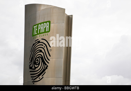 Museum of New Zealand Te Papa our place Wellington North Island New Zealand - Stock Photo