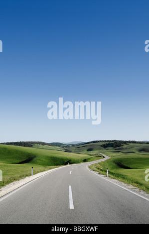 Road Through the Hills of Bosnia Herzegovina - Stock Photo