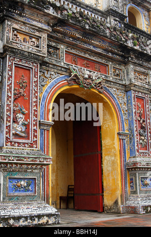 'Hien Nhon' [East Gate] entrance to [Imperial Palace], [Forbidden Purple City], Hue Citadel, Vietnam - Stock Photo