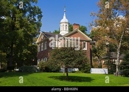 Carpenters Hall Independence National Historical Park Old City District Philadelphia Pennsylvania USA - Stock Photo