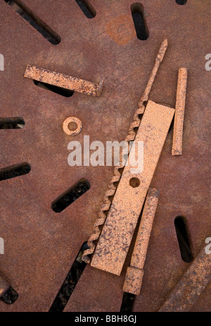 Tools in Old Whaling Town of Grytviken, South Georgia Island, Antarctica - Stock Photo