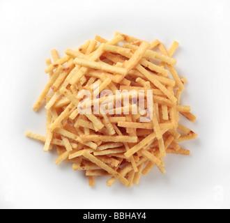 Celestine noodles - sliced pancakes - Stock Photo