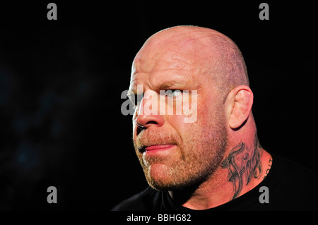 Mixed Martial Arts cage fighter Jeff Monson in the ring - Stock Photo