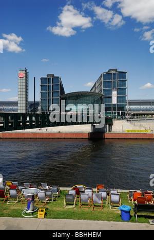 Berlin Germany Hauptbahnhof central railway station - Stock Photo