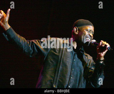 Entertaining over 25 000 local and international jazz lovers and fans is Caiphus Semenya performs at the 4th Annual - Stock Photo