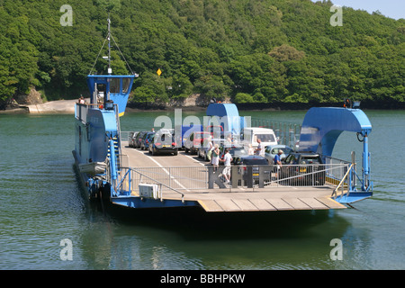King Harry Ferry Cornwall UK - Stock Photo