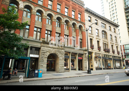 Historic buildings in Downtown Seattle WA, USA, Seattle WA, USA - Stock Photo