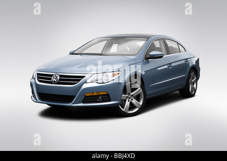 2009 Volkswagen CC VR6 in Gray - Front angle view - Stock Photo
