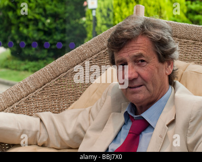 Melvyn Bragg the broadcaster and writer photographed at the Salisbury International Arts Festival in Wiltshire in - Stock Photo