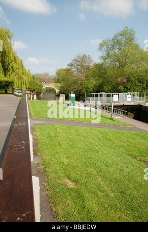 Culham Lock on the River Thames in Oxfordshire UK - Stock Photo