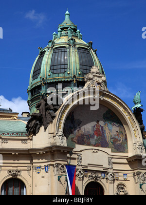 Czech Republic Prague Municipal House - Stock Photo