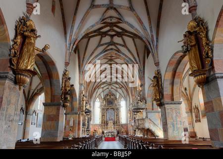 Stiftskirche Christus Salvator und Allerheiligen, Christ Salvator and All Saints collegiate church, Stift Millstatt - Stock Photo
