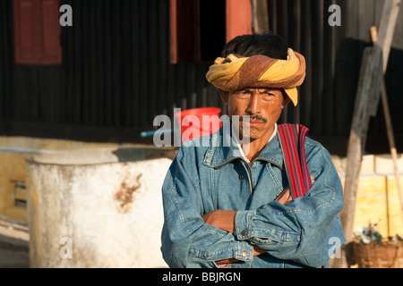 Burmese Tribal man at Kalaw, Myanmar (Burma) - Stock Photo