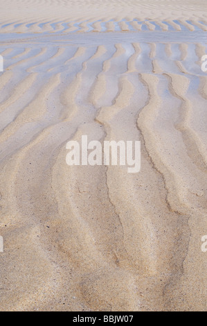 Sand waves patterns on Traigh Scarista beach, Isle of Harris, Outer Hebrides, Scotland - Stock Photo