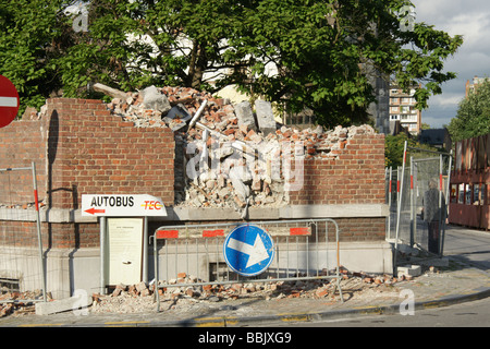 Demolition in Liege, Belgium, to build new railway station, and upgrade the area. - Stock Photo