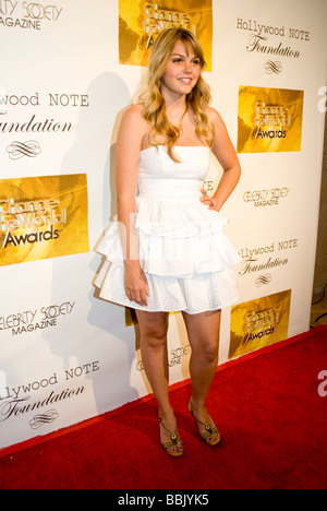 BEVERLY HILLS MAY 31 2009 Actress Aimee Teegarden Friday Night Lights at the Change the World Humanitarian Awards - Stock Photo