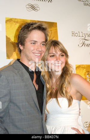 BEVERLY HILLS MAY 31 2009 Actor Jeremy Sumpter Friday Night Lights and Actress Aimee Teegarden Friday Night Lights - Stock Photo