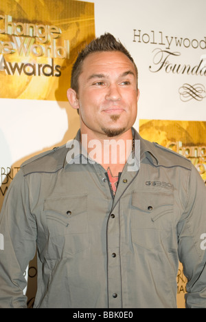 BEVERLY HILLS MAY 31 2009 Rob McCullough of World Extreme Cagefighting at the Change the World Humanitarian Awards - Stock Photo