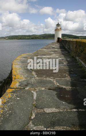 Ardrishaig, Scotland. The Ardrishaig lighthouse and pier on the edge of Loch Fyne and Loch Gilp. - Stock Photo