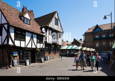 Newgate Market area in the City Centre, York, North Yorkshire, England - Stock Photo