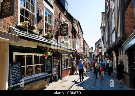 The Shambles in the historic city centre, York, North Yorkshire, England - Stock Photo
